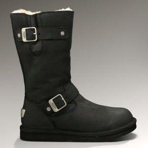 UGG Kensington Moto Tall Black Boots